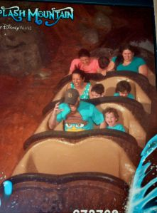 The Princess-Scientist Family, renamed the Perries, on Splash Mountain